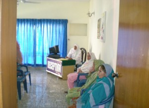 Patients in waiting room.